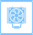 cpu fan icon vector image