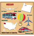 Flat map of Oregon vector image