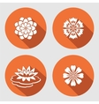 Flower icons set Lily chamomile blue poppy vector image