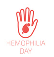 Hemophilia day vector image