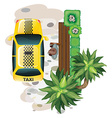 Man and taxi vector image