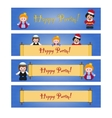 Set of Purim banners with Esther Mordecai and vector image