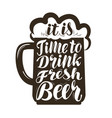 beer ale label lettering calligraphy vector image