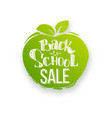 Back to school sale on apple shape vector image