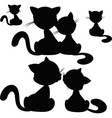 cat silhouette - vector image