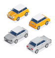 City Cars Isometric Set with Mini Car and Sedan vector image