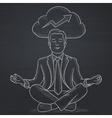Peaceful businessman meditating vector image