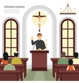 Catholic Church Priest vector image
