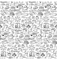 Hand drawn seamless breakfast pattern vector image