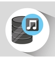 hand holds data music icon vector image