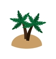 island and palm trees icon vector image