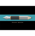 Stylized pencil and writing pen variation 2 vector image