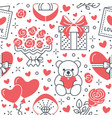 valentines day pink seamless pattern love vector image