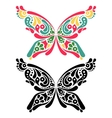 Beautiful butterfly tattoo vector image vector image
