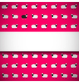 Seamless pattern with sheep on pink background vector image