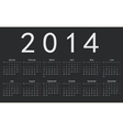 Simple european 2014 year calendar vector image