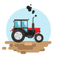 Red tractor a side view vector image vector image