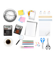 big office supples set vector image