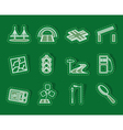 Road navigation and travel icons vector image vector image