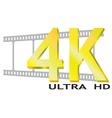 4k ultra hd logo vector image