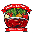 tomato ketchup label vector image vector image