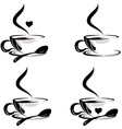 beauty cup coffee collection vector image