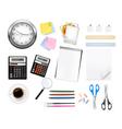 big office supples set vector image