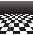 black and white checker vector image