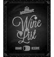 chalkboard wine vector image