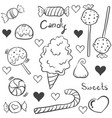 doodle of sweet candy various collection vector image