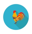 flat icon cock vector image