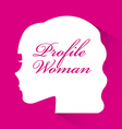 profile woman design vector image