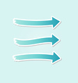 three different blue arrows vector image