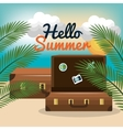 travel suitcase beach summer vacation design vector image