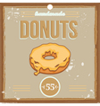 donutposter vector image vector image