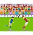 a soccer match vector image