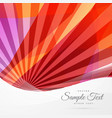 abstract red lne rays background vector image
