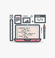 web design laptop vector image
