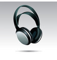 realistic headphones vector image
