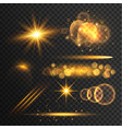 transparent lens flare and light effects vector image