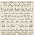 Set of Lace Paper with floral elements vector image