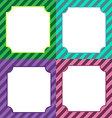 Set of colorful frames vector image