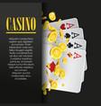 Casino Poker poster or banner background or flyer vector image