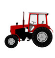 agricultural tractor farm vehicle vector image