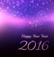 blur 2016 happy new year design vector image