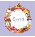 Candy shop poster vector image