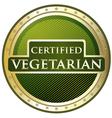 Certified Vegetarian Label vector image