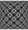 Design monochrome warped grid decorative pattern vector image