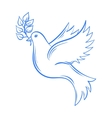 Dove Hand drawn Dove of Peace vector image