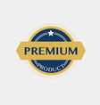 Premium product badge label vector image